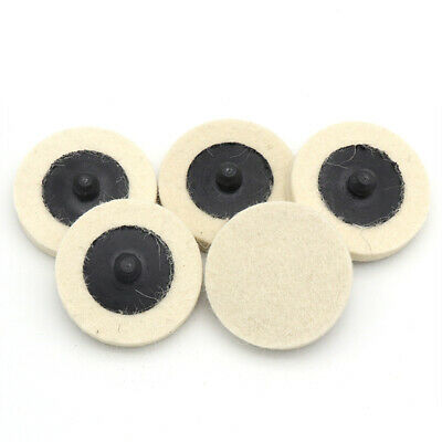 5pcs 2'' 50mm Roloc Type Wool Felt Discs Roll Lock Polishing Buffing Pads Wheels • 3.99£