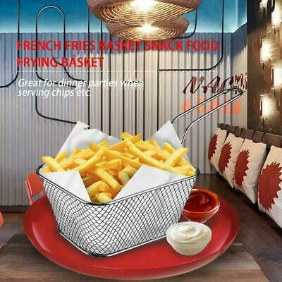 Portable Small Chips Fries Serving Basket Food French Fryers Wedges Potato D1W3 • 2.39£