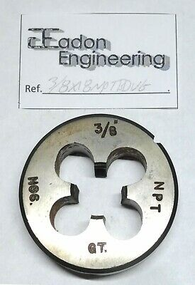 3/8  X 18TPI NPT (National Pipe Taper) Button Die, HSS. By Top Brands. • 14.99£