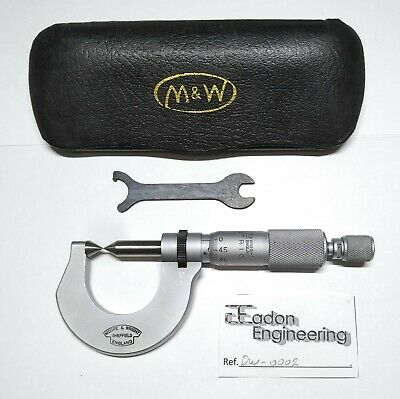 Moore & Wright 0-25mm External Point Micrometer. No.947M. • 49.99£
