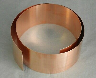 Copper Strip/Tape  - 20mm - 25mm - 30mm - 35mm - 40mm - 45mm Wide X 0. 5mm Thick • 21.70£