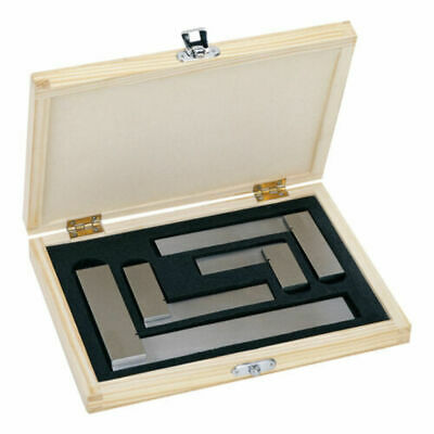 Engineers Square Set 4pc - 2, 3, 4 & 6 Inch Squares In Wooden Case - Try Squares • 19.98£
