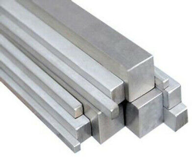 2pcs 304 Stainless Steel Solid Square Bar Rod 500mm 3x3/4x4/5x5/7x7/10x10mm • 6.37£