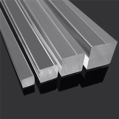 5pcs Clear Square Acrylic Plexiglass Lucite Rod Solid PMMA Bar 500mm 3/5/8mm  • 6.99£