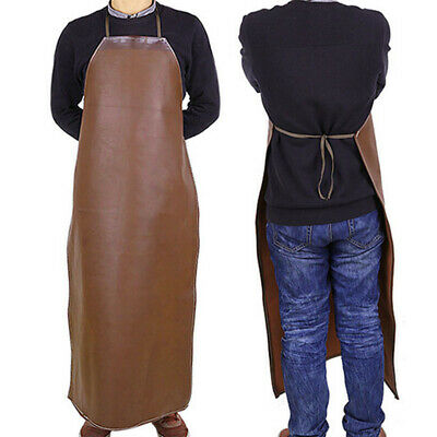Welder Welding Protection PU Leather Gauntlets Long Apron Blacksmith Clothes • 7.71£