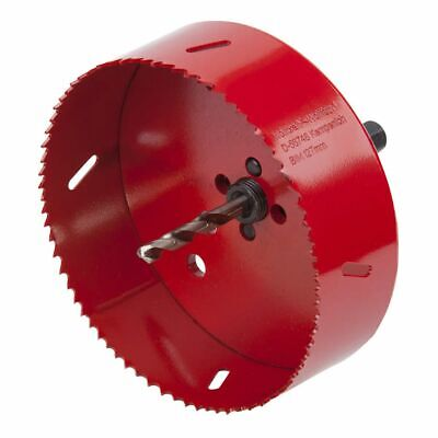 Wolfcraft Hole Saw 127 Mm Red With Centring Drill Bit Drilling Tool 5495000 • 33.50£