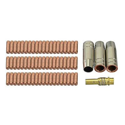 64pcs MB 15 AK MAG Contact Tip 0.8mm 6x25x0.8 M6 Gas Nozzle 145.0075 Tip Hold... • 40.49£