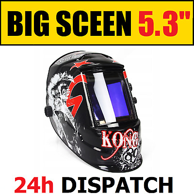 Professional Self Tinting Welding Mask - Solar Battery - MASSIVE SCREEN VISION • 59£