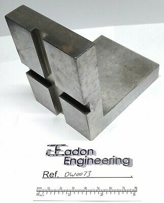 Engineers/Machinists Ground Angle Plate For Grinding. 4  X 4  X 3  Wide. • 22.99£
