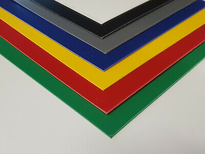 Plastic Sheet 1mm Blue, Red, Yellow, Green, Grey, Black, White & Selection Packs • 39.99£