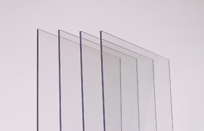 Clear Polycarbonate Plastic Sheet Cut To Size - 2mm 3mm 4mm 5mm 6mm • 21.83£