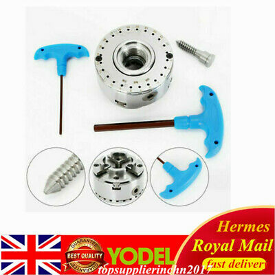 4-Jaw M33 Geared Scroll Chuck Self-Adjusting Centering For Wood Turning Lathe • 87£
