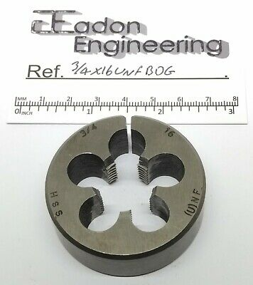 3/4  X 16TPI UNF (Unified National Fine) Button Die, HSS.  • 8.49£