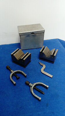 ENGINEERS V BLOCKS AND CLAMPS -lathe Milling Grinding Machinery SPHERE • 55£