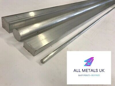 Aluminium Solid Bar Block Material- Solid Square / Solid Round / Solid Rectangle • 9.99£