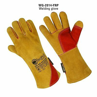 5 Pairs Welders Gloves Extreme Heat Resistant Gauntlets Gloves Cow Split Leather • 29.99£