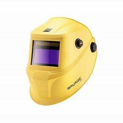 ESAB Savage A40 Welding Helmet - Yellow C/W 2 FREE OUTER LENSES + FREE P&P • 95£