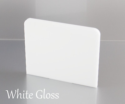 WHITE GLOSS ACRYLIC SHEETS 2mm, 3mm & 5mm Thick • 31.28£