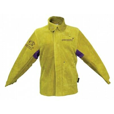 Parweld Panther Leather Welders Jacket Protective Clothing Welding  P3788 SIZE L • 42.95£