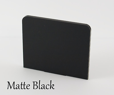 MATTE BLACK ACRYLIC SHEETS 3mm IN VARIOUS SIZES • 42.91£