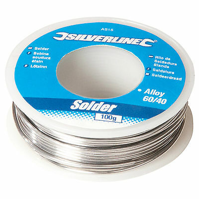 100g Reel 1mm 60/40 Tin Lead Solder Wire With Flux. Sn/Pb AS15 Electrician NEW • 5.99£