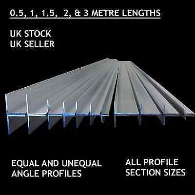Aluminium Extruded Angle Various Sizes Thickness 1 Meter Long! BEST PRICE • 3.49£