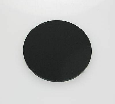 MATTE BLACK ACRYLIC CIRCLE DISC PLASTIC PERSPEX 3mm • 19.58£