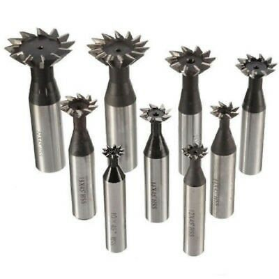 10-35mm 45° 60°  Premium HSS Dovetail Cutter End Mill Milling High Speed Steel • 44.98£