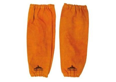 Portwest SW20 Bizwed Cowhide Leather Welders Sleeves Stitched Welding • 14.16£