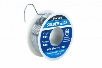 100g Flux Covered Electrical Soldering Wire Containing 60% Tin 40% Lead Freepost • 6.49£