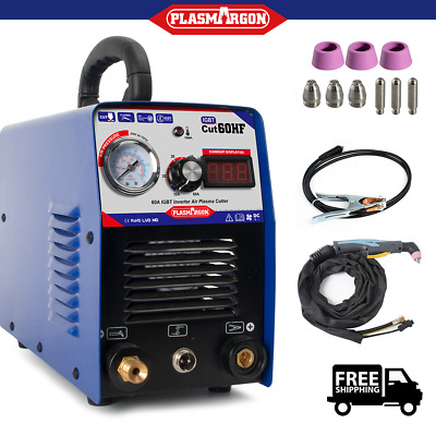 Plasma Cutter Machine 60A IGBT AG60 TORCHES PLASMA CUTTING 240V New Design • 192.99£