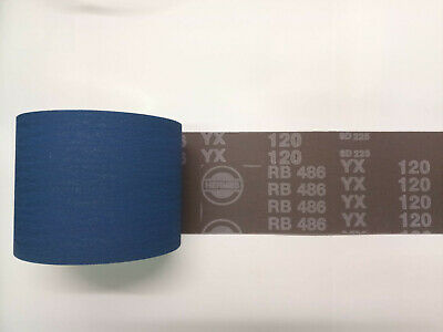 10 Meters X 100 Mm HERMES Sandpaper Roll, Type RB-486-YX 120 • 32£