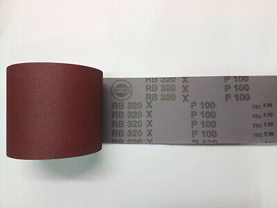 4 Pieces 5000 Mm X 120 Mm HERMES Sandpaper Roll, Type RB-320-X P100 • 45£