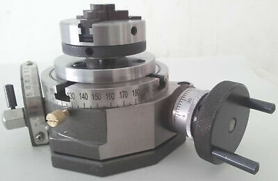 Rotary Table Tilting  3 / 75mm With 65mm Lathe Chuck (14X1.0) With Black Plate • 92£