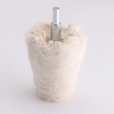 Cone-Shaped Wool Flannelette Mirror Buffing Polishing Wheel Disc Grinding Head • 5.93£