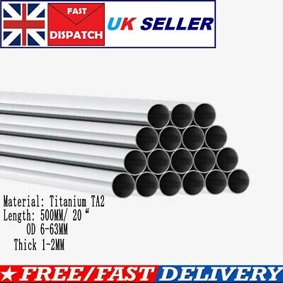"""High Intensity TA2 Titanium Tube Pipes L 20"""" Thick 1-2MM Heat-resistant Material • 33.25£"""
