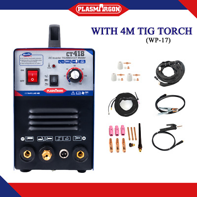 3IN1 Cutter TIG MMA Welder Cutting ARC Display Welding 220V±15%  4M WP17 TORCH • 209.90£