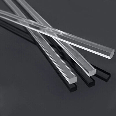 2PCS Solid Acrylic Plexiglass Lucite Rods Transparent Square Bar L 500mm 3/5/8mm • 6.89£
