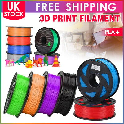 3D Printer Printing Filament PLA+ 1.75mm Roll 1KG Weight  Various Colours UK • 13.99£