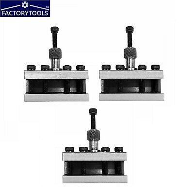 Standard Holder For Quick Change Toolpost T-51  (3 Pcs) Set • 60£