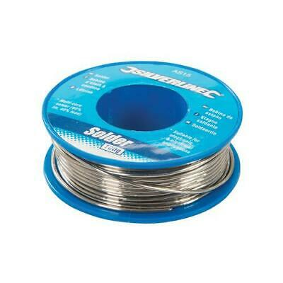 SILVERLINE 100g SOLDERING WIRE Electricians Circuit Boards - 60% Tin , 40% Lead • 6.45£