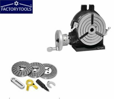 6'' Rotary Table Horizontal And Vertical With Dividing / Indexing Plate Sets • 197£
