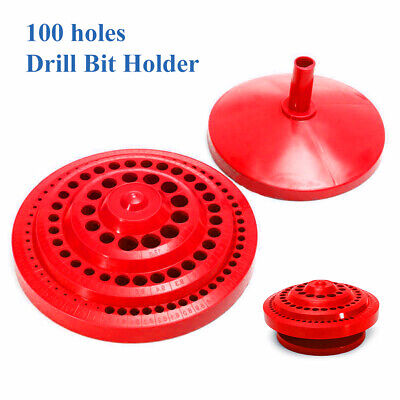 100-Holes Drill Bit Holder Storage Case Rotary Drill Organizer Stand Box 1-13mm • 9.34£