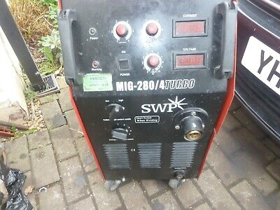 Mig Welder 240v With Torch & Earth Clamp Swp 280/4 Turbo • 410£