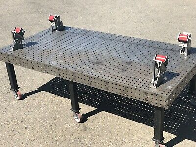 Welding Table Flatweld- 2750 X 1400 M16 Holes - 50mm Centre To Centre) BRAND NEW • 2,199£