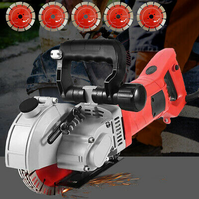Wall Chaser Concrete Saw Electric Groove Cutting Machine Slotter 133mm Saw Blade • 149.40£