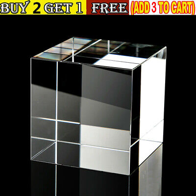 Solid Acrylic Square Cube Cuboid For Jewel Shop Display Home Art Decor 3/4/5CM • 6.71£
