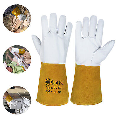 Welding Tig Gloves | Mig Gloves Cow Leather Wing Thumb Extra Pulse ASK-WG-2032 • 6.99£