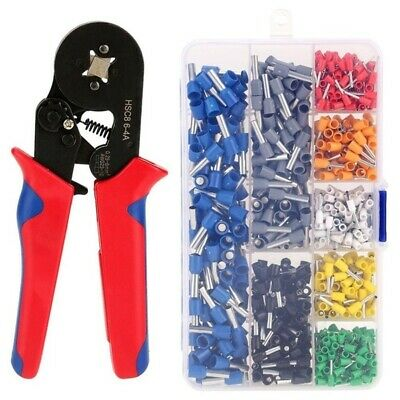 Wire Crimping Pliers Tool Ferrule Crimper+ 800Pcs Crimp Terminals • 17.99£