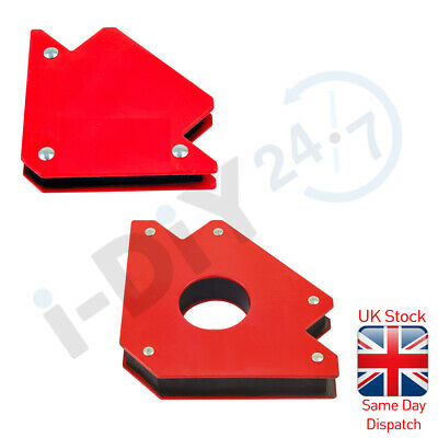 Rolson 25/50 Magnetic Angle Corner Holder Welding Clamp Support Fix Arrow Magnet • 10.99£